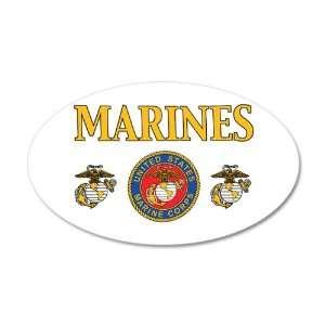 38.5x24.5O Wall Vinyl Sticker Marines United States Marine