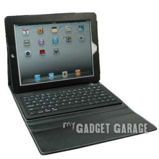 Portfolio Bluetooth Keyboard Leather Case For iPad 2