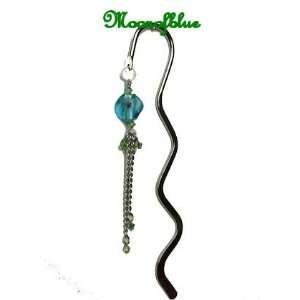 Green Swarovski Crystal Lampwork Bead Bookmark #BK29G