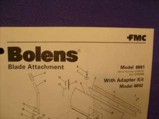 fmc bolens blade attachment part list model 6861 search