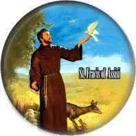 St. Francis of Assisi BADGES BUTTONS PINS 1INCH 25mm