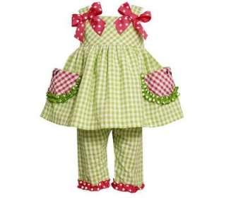 Bonnie Jean Baby Girls Spring Summer Seersucker Dress & Capri Set