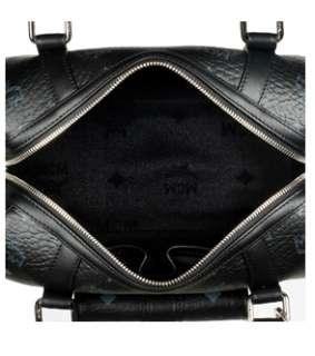 NWT MCM Flow Boston Bag VISETOS Black