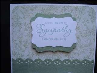 Handmade Sympathy Card Stampin Up Stampendous Martha Stewart