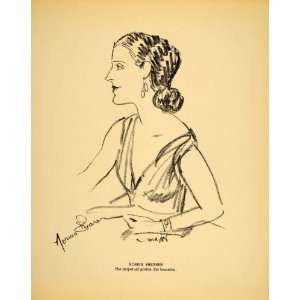 1938 Norma Shearer Film Actress Henry Major Lithograph