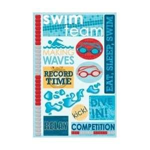 Karen Foster Swim Team Cardstock Stickers 5.5X9 KF10846