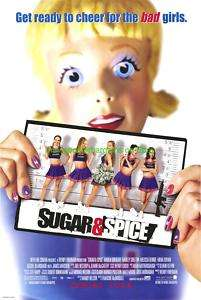SUGAR AND SPICE MOVIE POSTER MENA SUVARI CHERRLEADERS