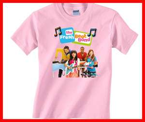 Fresh Beat Band Shirt   Birthday Shirts in Pink or Blue Customize Your