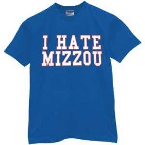 Hate kansas t shirt mizzou jersey missouri tigers basketball for Funny kansas jayhawks t shirts