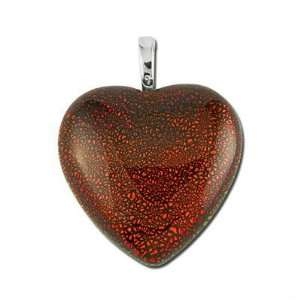 30mm Heart Dichroic Glass Pendant Arts, Crafts & Sewing
