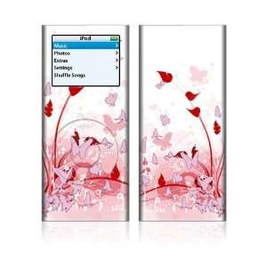 Apple iPod Nano 2G Decal Skin   Pink Butterfly Fantasy