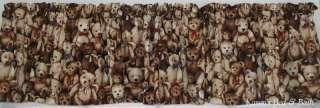 Brown Bears Teddy Bear Nursery Curtain Valance NEW