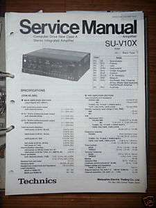 Service Manual Technics SU V10X Amplifier,ORIGINAL