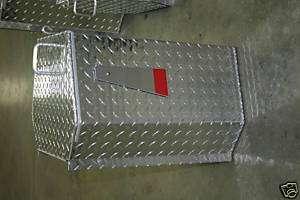 ALUMINUM DIAMOND PLATE MAILBOX. MADE IN U.S.A. LARGE