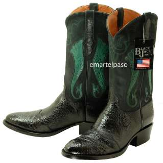 82b36180bd8 168 New BLACK JACK (Hand Made) Black Bullfrog Cowboy Boots Mens 10 1 ...