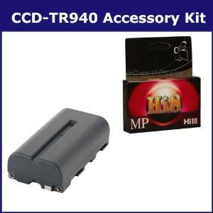 Sony CCD TR940 Camcorder Accessory Kit includes HI8TAPE Tape/ Media