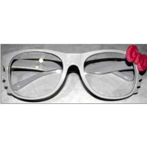 Kitty Bow White w/ Pink Bowtie Women Girl Glasses Frame Costume Nerdy