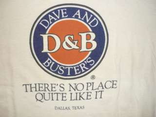 VTG 80s PAPER THIN Dave & Busters T Shirt Soft Mens XL Indie Beige