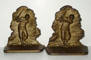 Cast Iron A.C. Williams Golf Golfer Bookends