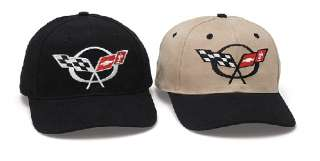 C5 Chevy Corvette Logo Hat Cap Black or Bk/Khaki NWT