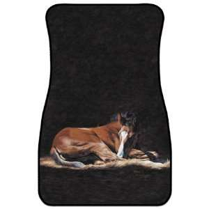 Horse Western Decor Automative Car Truck Floor Mat Rug  Set of two