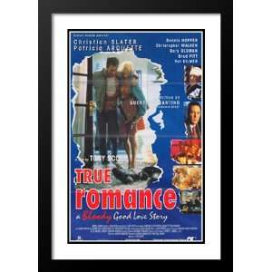 True Romance 20x26 Framed and Double Matted Movie Poster   Style C