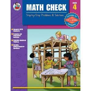 Math Check: Step by Step Problems & Solutions, Grade 4