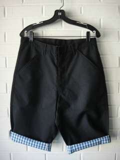 COMME DES GARCONS Homme Plus SS09 Black Gingham Lined Shorts NEW