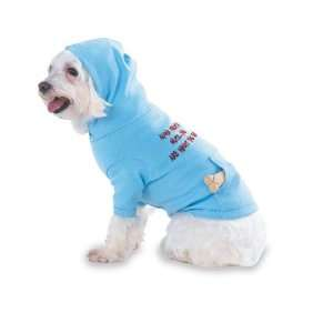 eat Hooded (Hoody) T Shirt with pocket for your Dog or Cat LARGE Lt
