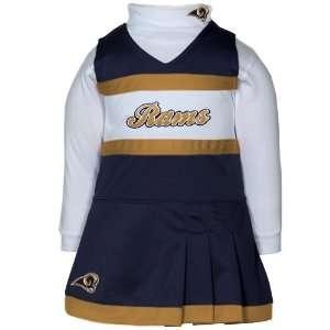 Reebok St. Louis Rams Infant Girls Navy Blue White 2 Piece