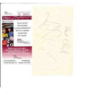 Glenn Miller Band / Modernaires Signed Paper 4 members JSA