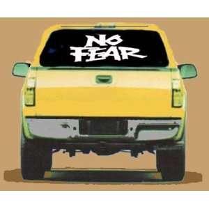 NO FEAR   Giant 30 White VINYL STICKER / DECAL