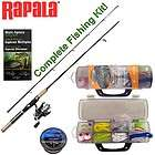 RAPALA SPINNING ROD & REEL COMBO KIT + tackle box, accessories GREAT