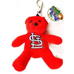 Forever Collectibles St Louis Cardinals Plush official MLB 4 Keychain