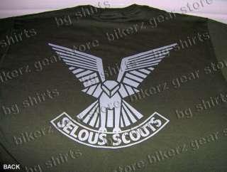 RHODESIA SELOUS SCOUTS SPEC OPS S/S T shirt M XL GREEN