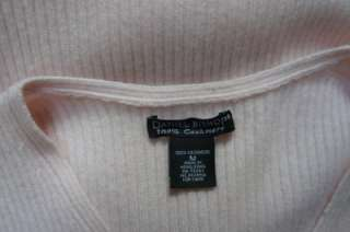 DANIEL BISHOP 100% Cashmere Ribbed Knit Baby Pink Sweater M