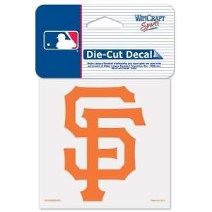 San Francisco Giants Die Cut Decal 4x4