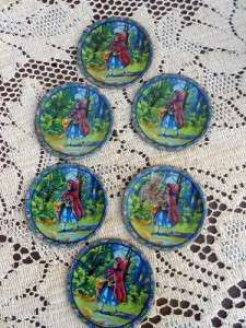Tin Litho Little Red Riding Hood Tea set Ohio Art Cups,plates pitcher