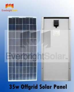 35 Watt Solar Panel 12 Volt Battery Charger Just Arrive
