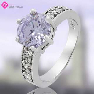 Special Jewelry Sale PURPLE TANZANITE GP WHITE GOLD COCKTAIL RING SIZE