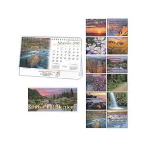 Monthly 2010 desktop calendar with Christian quotes.: Office Products