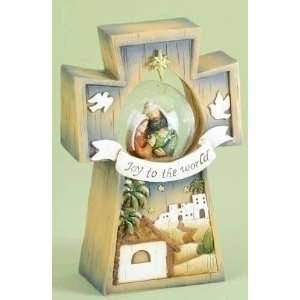 Pack of 3 Religious Holy Family Christmas Glitterdome