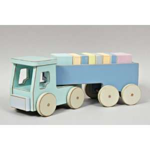 Pastel Toys Semi Truck, Wooden Toy: Toys & Games