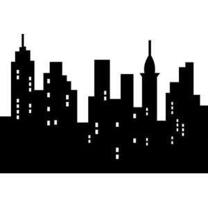 City Wall Art Vinyl Decal Urban sky scrapers view