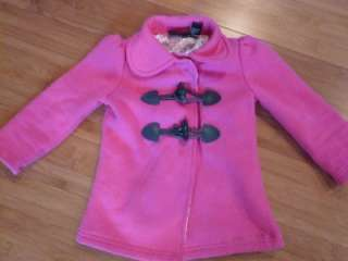 NEW CALVIN KLEIN GIRLS PINK COAT & SKINNY JEANS 3 PIECE SET OUTFIT