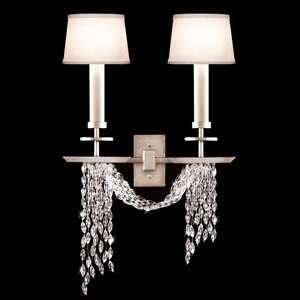 Fine Art Lamps 750450ST Cascades Silver Leaf Wall Sconce