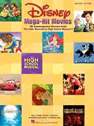 DISNEY MEGA HIT MOVIES EASY PIANO SHEET MUSIC BOOK 073999160819