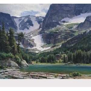 : Mountain Lake artist: Clyde Aspevig 31x27 CLEARANCE: Home & Kitchen