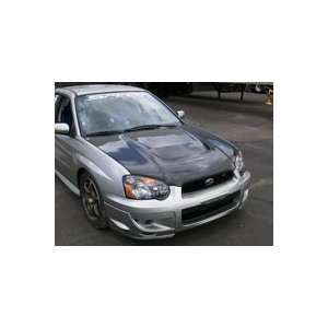 Carbon Fiber Racing Style Hood For 04   05 Subaru WRX: Automotive