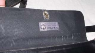 Named WW2 WWII US Navy Waves Leather Purse Uniform Accessory Handbag